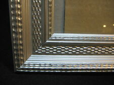 "PICTURE FRAME 8"" x 10"" Vintage Look Detailed Textured Silver Tone Ornate in EUC"