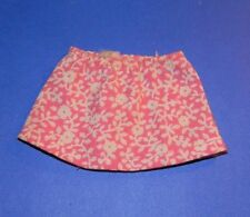 Vintage 1972 Barbie Skipper Flower Power #3373 Pink Floral Print Skirt