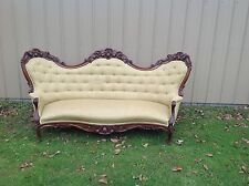 Wonderful Walnut Victorian Carved Apples Pears Large Unusual Sofa Belter Fruit