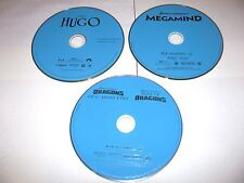 Lot of 3 Childrens Cartoon Live Action  Movies; Blu-ray Animated] Hugo,Dragons..