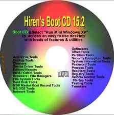 Hiren de arranque del CD reparación diagnosticar Pc Laptop Restaurar Pro arranque en cualquier PC