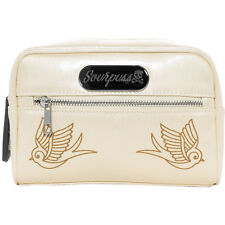 Sourpuss Clothing Betsy Makeup Bag Sparrow Champagne Retro Rockabilly Pin Up