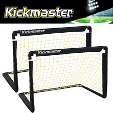 """NEW 2017"" KICKMASTER PORTABLE FOLDING ONE ON ONE DOUBLE GOAL SET / 2 X GOALS"