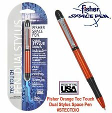 Fisher Space Pen #STECTD/ O - Orange Anodized Tec Touch Pen With Dual Stylus