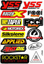 Rockstar Energy Motocross Logo Motorcycle Helmet Sponsor Decal Stickers Sheet 44