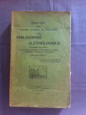 HILY Jean - Esquisse d'une nouvelle synthèse de Philosophie . 1907