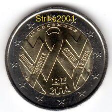2 EURO COMMEMORATIVO FRANCIA 2014 Aids