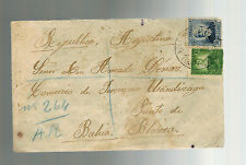 1935 Santander Spain Cover to Bahia Blanca Argentina With Letter Content
