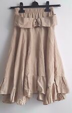 Lovely French Made beige with attached belt skirt girl age 14 years
