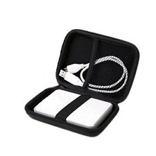 "Hard Carry Bag Compartment Case Bag Pouch Protection For 2.5"" HDD Hard Disk"