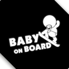 3M Reflective Baby On Board Funny Surfing  Car Sticker Decal 01839 20x14cm