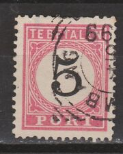 Port nr.6 B type 2 used Nederlands Indie Indonesie due portzegel