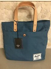 NEW w/Tag HERSCHEL Canvas/Leather BROHM Tote Bag Purse CADET BLUE -- FREE SHIP