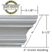 "4"" Peel & Stick Easy Crown Molding  50'  Kit makes 12 inside corners."