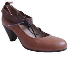 LILI MILL BROWN LEATHER SHOES Sz 36 US 6