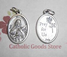 St Therese / Pray for Us - Oxidized Die Cast Italian Silver Tone 1 inch Medal