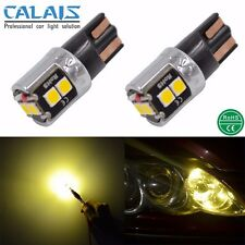 2X Yellow T10 W5W 168 175 CANBUS 6W LED Car Automotive Light Lamp 12V 24V Bulb