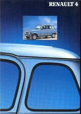Renault 4 TL, GTL 4x4 1990 French market sales brochure