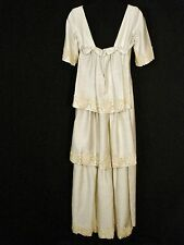 Wedding Dress Vintage Bridal Gown Ivory Silk Long Dress One of a Kind SM