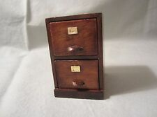 Unbranded Dollhouse Miniature Wood File Cabinet 1-5/8 X 2 X 2-9/16