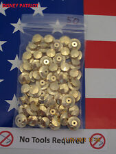 50 GOLD Locking Pin Backs NO TOOLS  fit Disney pins. USA seller, Best Available