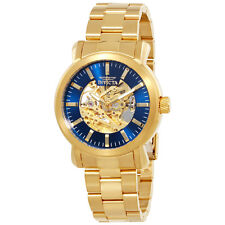 Invicta Vintage Automatic Gold Skeleton Dial Mens Watch 22575