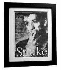 SHANE MacGOWAN+POGUES+Snake+POSTER+AD+RARE ORIGINAL 1994+FRAMED+FAST GLOBAL SHIP