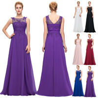 Elegant Formal Lace Evening Ball Gown Party Prom Bridesmaid Dresses Size 6-20