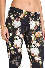 7 For All Mankind Skinny Jeans Nighttime Floral Sz 24 S dolce gabbana stl