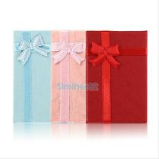 3Pcs Bowknot Necklace Bracelet Bangle Ring Earring Jewelry Box Present Gift Case