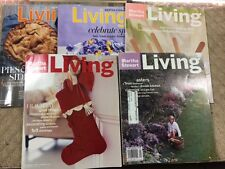 LOT OF( 5 ) MARTHA STEWART LIVING  MAGAZINES- TAKE A LOOK AT THESE WOW - P60