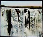Glass Magic Lantern Slide CENTRE OF VICTORIA FALLS ZAMBESI RIVER C1910 AFRICA
