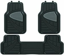 CHRYSLER JEEP/ GRAND VOYAGER HEAVY DUTY UNIVERSAL RUBBER FLOOR MATS 3 PIECE