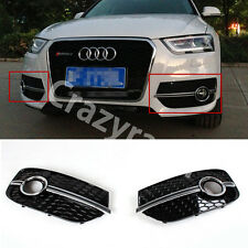Chrome Strip Front Bumper Fog light Cover Grill For Audi Q3 Non-Sline 2013-2015