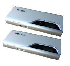 2 pieces 11000mAh Cell Phone/iPad External Battery Power Bank w/ flashlight