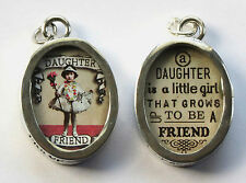 New Pick Up Sticks Jewelry Double Sided Oval Charms / Pendants - Daughter Family