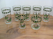 Alco Industries Lighthouse Glasses - Set of 7- Tumblers- Juice- Old Fashioned