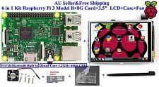 """6 in 1 Kit Raspberry Pi 3 Module+8G Card+3.5"""" Touch Screen Display LCD+Case+Fan"""