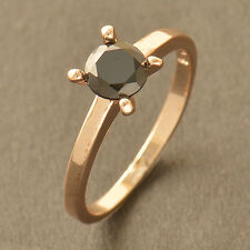 Hot Rose Gold Filled Black For Wedding Engagement Ring Genuine Lot Size 6 7 8 9