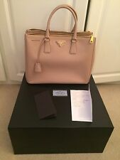Prada Saffiano Lux Cammeo tote top handle handbag bag with receipt and box new