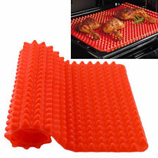 Pyramid Pan Non Stick Fat Reducing Silicone Cooking Oven Baking Tray Sheet Mat