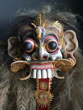 RARE mitologiche Rangda DEMONE QUEEN MASK-Dance Theatre Bali