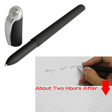 Black Auto Magic Ball Point Pen Invisible Disappear Slowly Toy Draft Save Paper