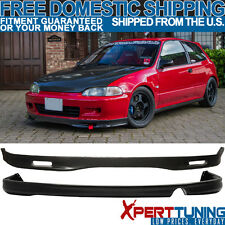1992-1995 Honda Civic EG 2Dr Urethane SPOON Front + Rear Bumper Lip Bodykit