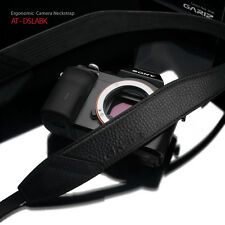GARIZ Leather ALCANTARA Neck Strap for Mirrorless DSLR AT-DSLABK Black