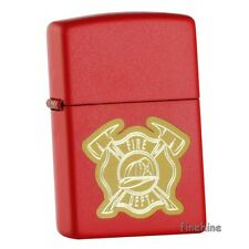 VOLUNTEER FIREFIGHTER Red Matte ZIPPO Spring 2015 neu+ovp