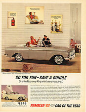 Vintage 1963 Magazine Ad Rambler Its The Economy King With Brand New Zing