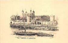 BR58384 ship bateaux  postcard painting the tower of  london  uk