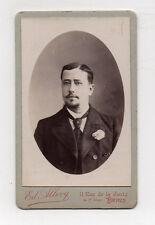 CDV Carte de visite Homme Edouard ALLEVY Paris Vers 1900 Tirage d'époque Cravate