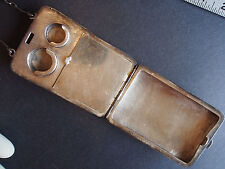 Antique Sterling Coin Make Up Compact Dance Minaudiere Finger Wrist Purse 120g